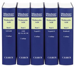 Münchener Kommentar zum Wettbewerbsrecht Gesamtwerk